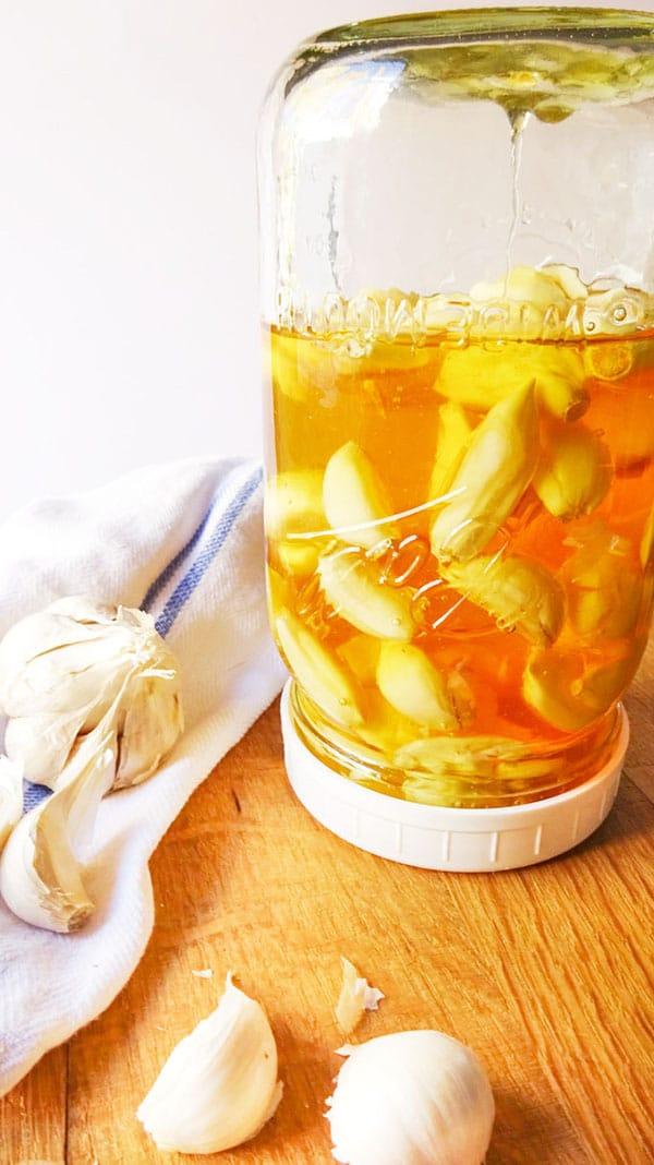 Fermented Garlic in Honey