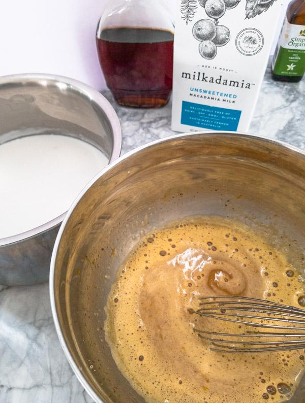 making dairy free eggnog recipe